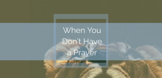 When You Don't Have a Prayer