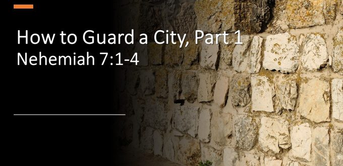 How to Guard a City, Part 1