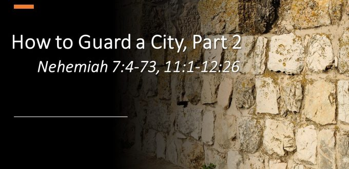 How to Guard a City, Part 2