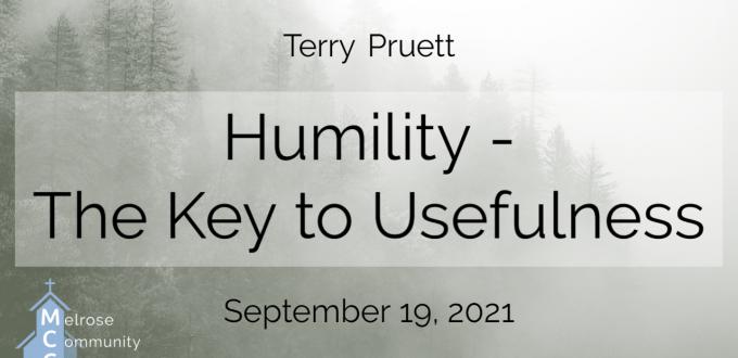 Humility – The Key to Usefulness